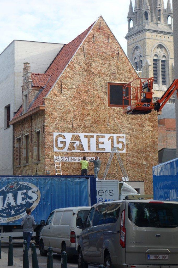 Inhuldiging GATE 15 op de Kleine Kauwenberg te Antwerpen