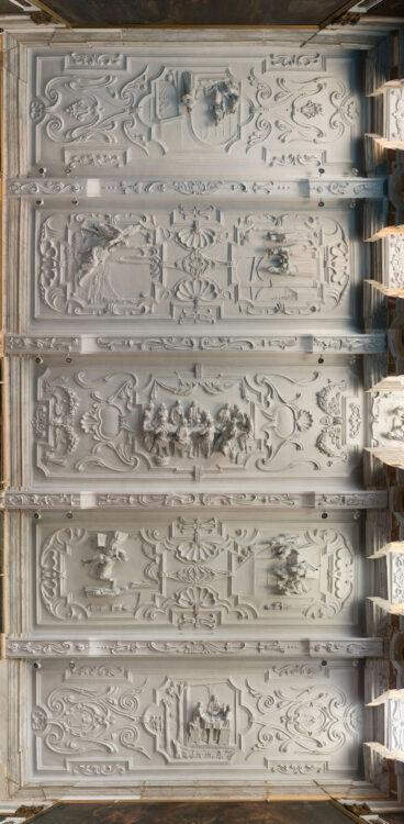 Laatste stucplafond van Jan Christiaen Hansche in de abdij van Park gerestaureerd!