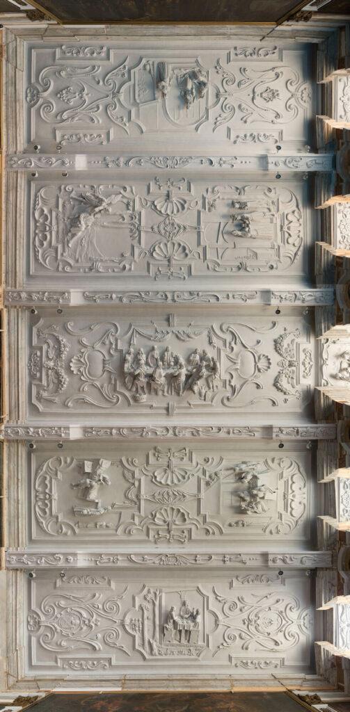 Laatste stucplafond van Ian Christiaen Hansche in de abdij van Park gerestaureerd!
